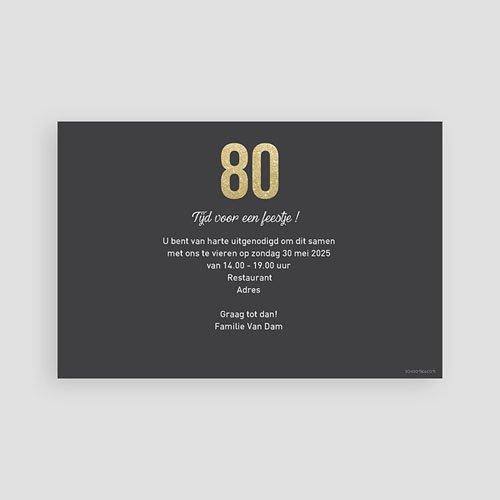 Verjaardagskaarten volwassenen 80 Goud pas cher