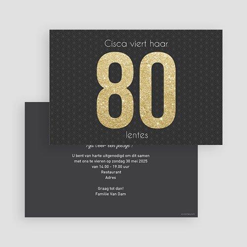 Verjaardagskaarten volwassenen 80 Goud gratuit