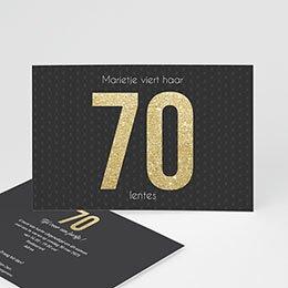 Verjaardagskaarten volwassenen 70 Goud
