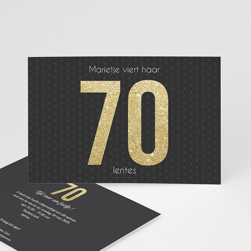 Meerderjarig Uitnodigingen Verjaardag 70 Goud