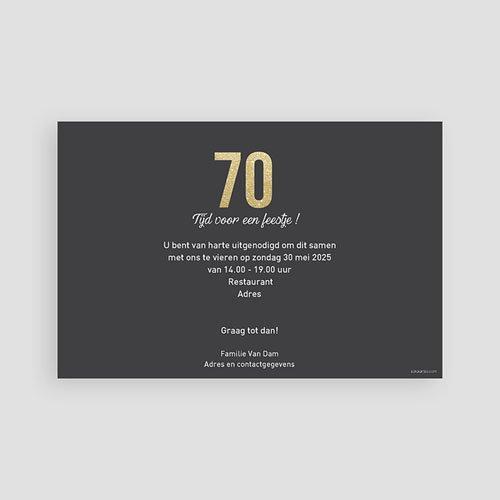 Meerderjarig Uitnodigingen Verjaardag 70 Goud pas cher