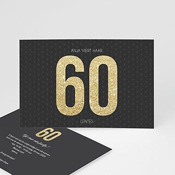 60 jaar feesten met originele uitnodiging for Decoratie 60 jaar
