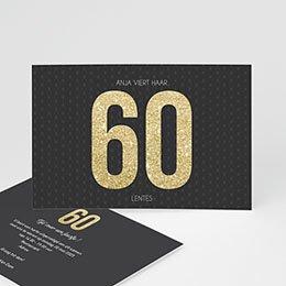 Verjaardagskaarten volwassenen 60 goud