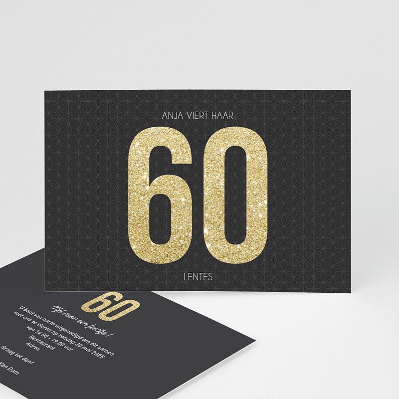 Meerderjarig Uitnodigingen Verjaardag 60 goud
