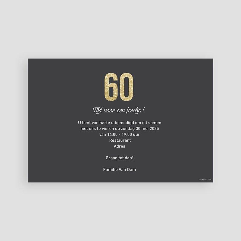 Meerderjarig Uitnodigingen Verjaardag 60 goud pas cher