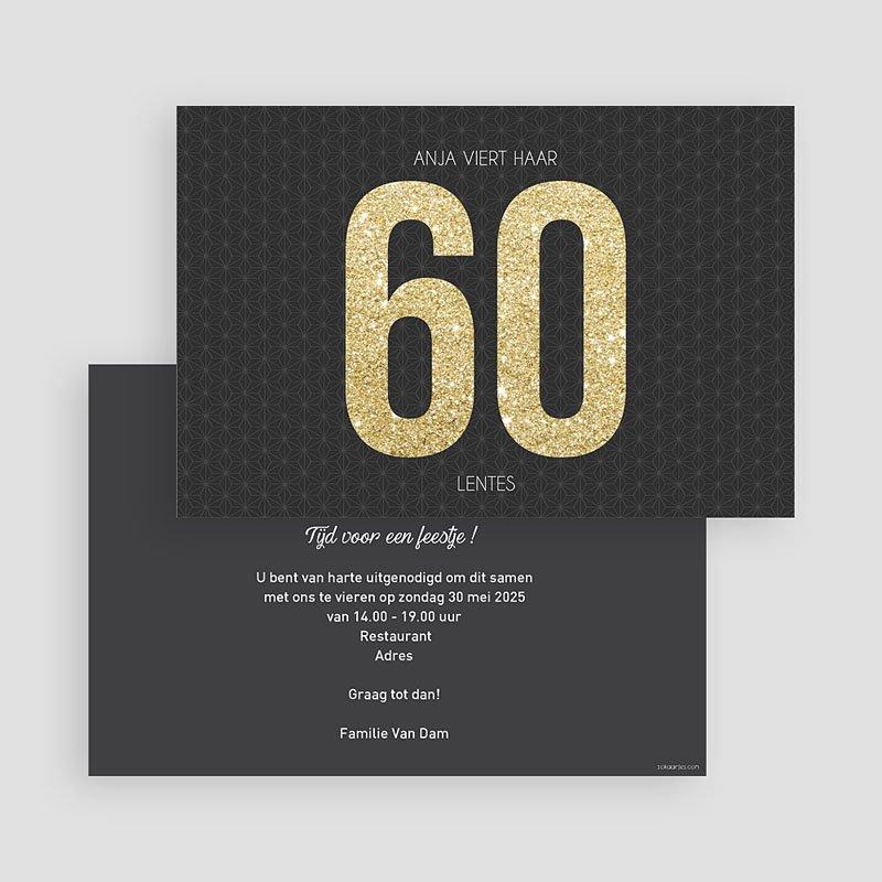 Meerderjarig Uitnodigingen Verjaardag 60 goud gratuit