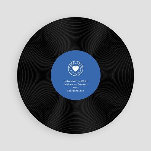 Ronde geboortekaartjes - Single Baby Blue 60991 thumb