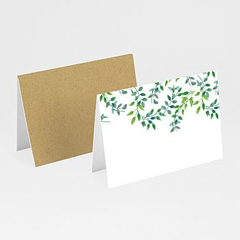 Tafelkaartjes huwelijk Greenery
