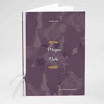 Boekomslag voor trouwboekjes - Boho Heart Wood - 0