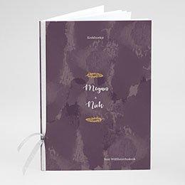 Boekomslag voor kerkboekje Boho Heart Wood
