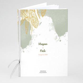 Boekomslag voor trouwboekjes - Olifgroen - 0