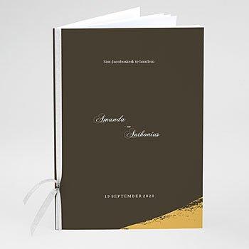 Boekomslag voor trouwboekjes - Goud folie Brushes - 0