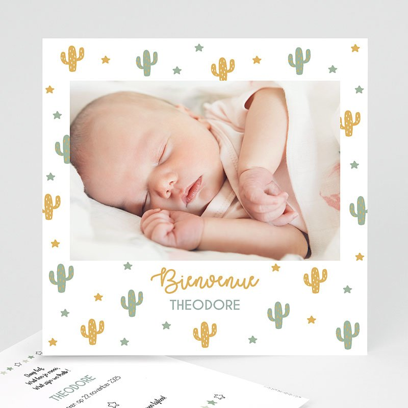 Geboortekaartjes Jongen Cactusland