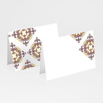 Tafelkaartjes huwelijk - Rood Oosterse - 0