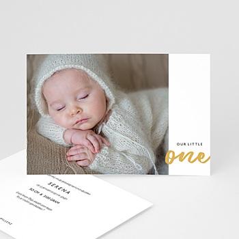 Geboortekaartje meisje - Our Little One - 0