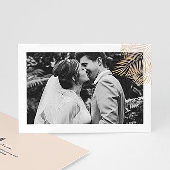 Bedankkaarten huwelijk met foto - Golden Oasis - 0