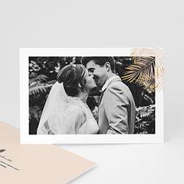 Bedankkaarten huwelijk met foto Golden Oasis