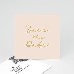Save the date Huwelijk Golden Oasis