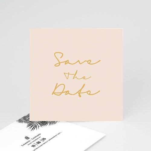 save the date kaartjes - golden oasis | zokaartjes
