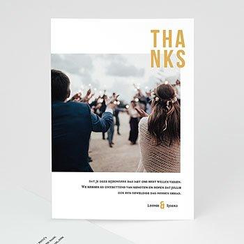 Bedankkaarten huwelijk met foto - Photo & Typo - 0