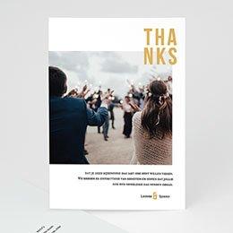 Bedankkaarten huwelijk met foto Photo & Typo