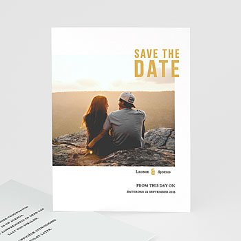 Save the date kaartjes - Photo & Typo - 0