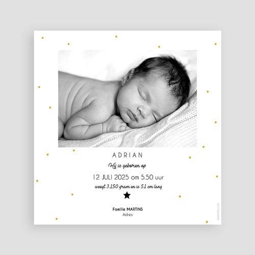 Geboortekaartje jongen - Initiaal 61440 thumb