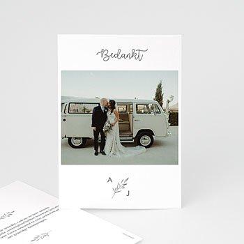 Chique bedankkaartjes huwelijk - Aquarel Olijftakken - 0
