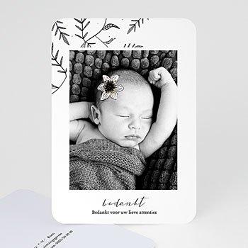 Bedankkaartje geboorte dochter - Vintage Anemoon - 0