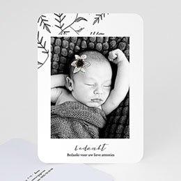 Bedankkaartjes Geboorte Vintage Anemoon