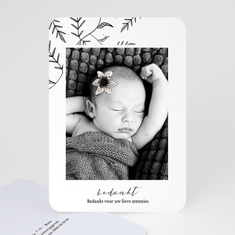 Bedankkaartje geboorte dochter - Vintage Anemoon 61498 thumb