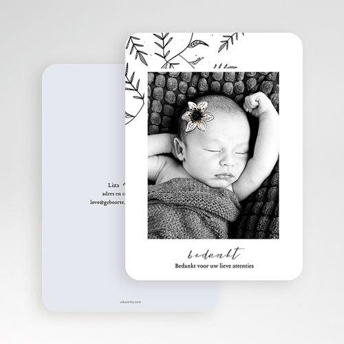 Bedankkaartje geboorte dochter - Vintage Anemoon 61500 thumb