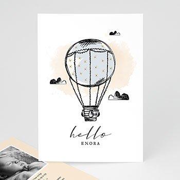 Geboortekaartje meisje - Luchtballon - 0