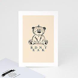 Bedankkaartjes Geboorte Vintage Teddy Bear