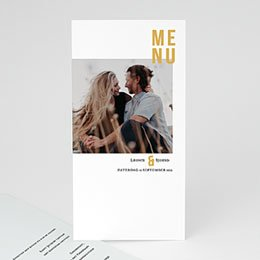 Menukaarten huwelijk Photo & Typo