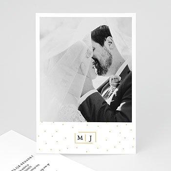 Bedankkaarten huwelijk met foto - Golden touch - 0