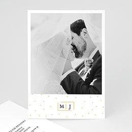Bedankkaarten huwelijk met foto Golden touch