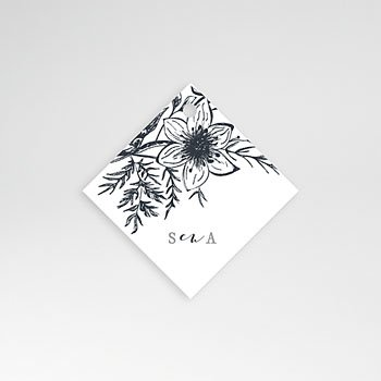 Etiket huwelijk - Gestileerde bloemen - 0