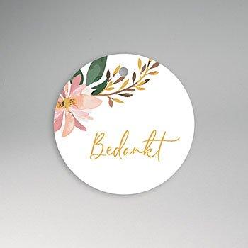 Etiket huwelijk - Pastel blossoms - 0