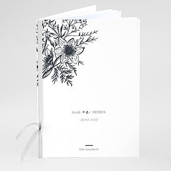 Boekomslag voor trouwboekjes - Gestileerde bloemen - 0
