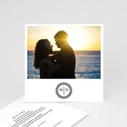 Bedankkaartjes Huwelijk Griekse blauw