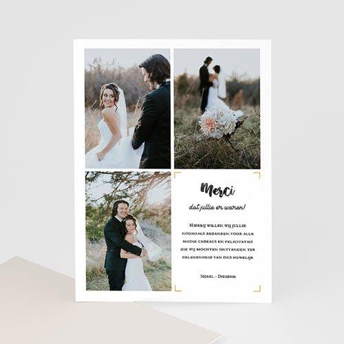 Bedankkaarten huwelijk met foto - Nieuw avontuur 61659 thumb