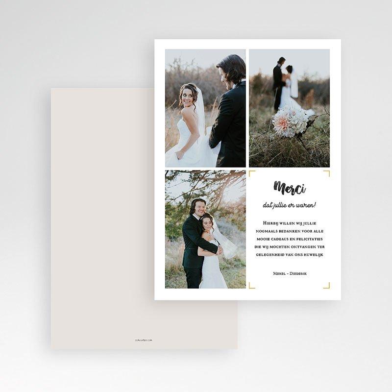 Bedankkaarten huwelijk met foto - Nieuw avontuur 61660 thumb