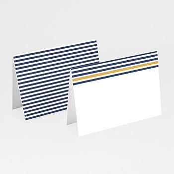 Tafelkaartjes huwelijk Blauwe strepen