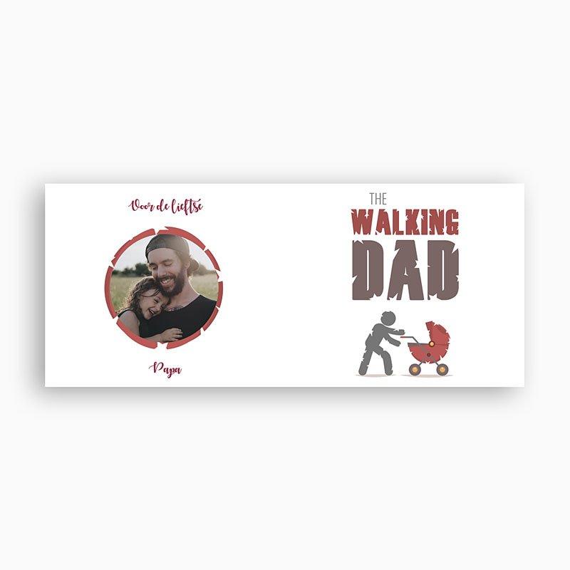 Gepersonaliseerde Fotomokken Vaderdag The Walking Dad pas cher