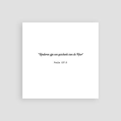 Bedankkaart doopviering meisje - Kruis & Goud 61981 thumb