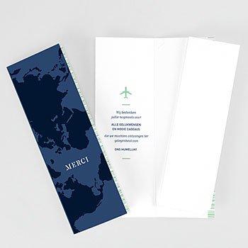 Bedankkaarten huwelijk en huwelijksreis - Blauw Wedding Pass - 0