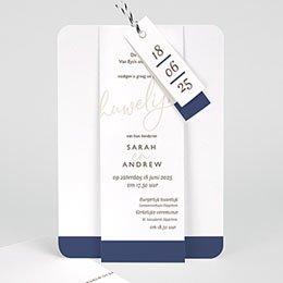 Trouwkaarten Blue Color Touch