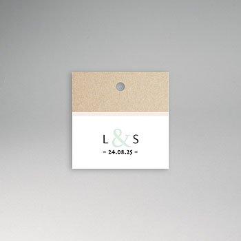 Etiket huwelijk - Kraft en Color - 0