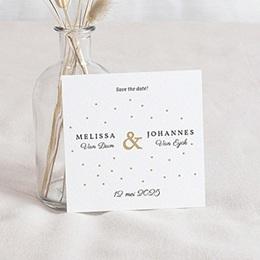 Save the date Huwelijk Golden touch